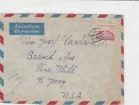 czechoslovakia 1949 airmail stamps cover ref 19674