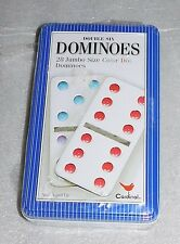 Cardinal Double 6 Six Dominoes 28 Jumbo Size Color Dot Train Tin Ages 4+ Game