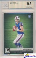 2018 Panini #307 Josh Allen Canvas Short Print ROOKIE BGS 9.5 GEM MINT