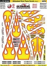Mg6408-2 UltraCal Airbrushed Style Flame Decals 1 24 Scale Slot Car Model Detail
