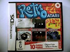 Retro Atari - 10 Classic Games (asteroids, Pong) - Nintendo DS - fast free post