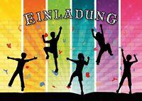 Einladungen zum Klettern / Bouldern / Einladungskarten zum Kindergeburtstag