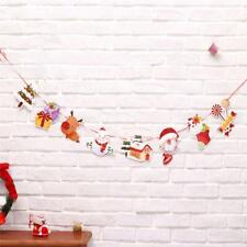 Christmas Banner Pennant Hanging Flag Banner Bunting Xmas Party Decor CB