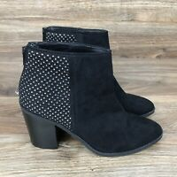 Madden NYC Rain Ankle Boots Women's 7 Heel Studded Zipper Shoes New