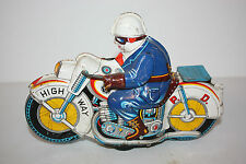Tin Motorcycle Toy  Asahi Highway P.D.Cycle made in Japan in the 1960's