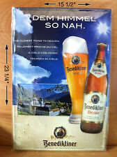 Benediktiner Weissbier Metal Curved Sign ~ The Closest Thing To Heaven  NEW & FS