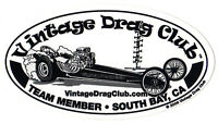 Drag Racing NHRA Sticker Decal Front Engine Dragster 5 inch oval