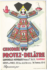 Chicoree protez delatre Paris France Signed Yann Poster Type Postcard