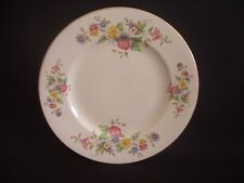 """BURLEIGH WARE -BURGESS & LEIGH -8.75"""" PLATE -FLORAL PATTERN & GILDING -c.1940"""