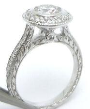 1.78CT ROUND DIAMOND ENGAGEMENT RING &  BAND FILIGREE R1