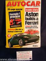 AUTOCAR Magazine 28th February 2001 Aston Ferrari & F1