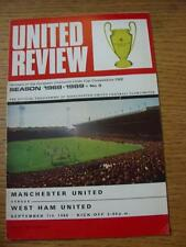 07/09/1968 Manchester United v West Ham United  (Token Removed)