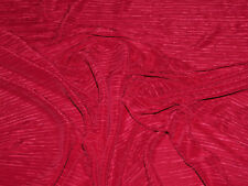 "PLEATED PLISSE SATIN FABRIC RED 58"" BY THE YARD"