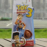 """DISNEY PIXAR TOY STORY 3 CHARACTER MATTEL DOLL 7"""" WOODY POSABLE ACTION FIGURE"""