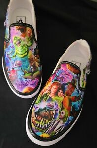 VANS Shoes Custom Hand Detailed Slip On Women's Hocus Pocus Beetlejuice