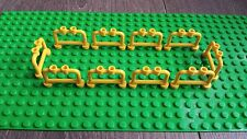 BULK 10 X FENCE YELLOW STYLE 4 PANEL FOR CITY / TOWN / FRIENDS - LEGO COMPATIBLE