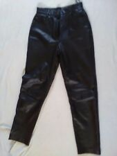 Skin Tones Leather Jeans Size 12 W 24 L30 Excellent Used Condition