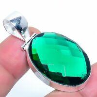 """Green Tourmaline Gemstone Handmade Jewelry Pendant 1.77"""" VS-1"""