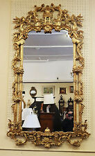 Massive 84 X 48 Carved Gilded Gilt Wood Italian Chinoiserie Mirror W Swans Mint