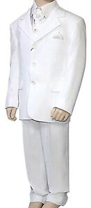 Boys Suit, Boys Wedding Suit, White Suit, Holy Communion, 4 Piece Suit,