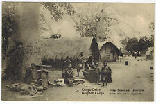 People in Bateke Village, Belgian Congo, 1910s