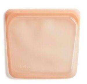 NEW Stasher Plastic-Free Reusable Silicone Sandwich/Food Storage Bag - Papaya