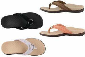 Vionic Women's Tide Aloe Flip Flop Sandal Suede / Leather