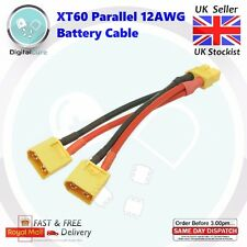 XT60 Parallel Battery Connector 12AWG 10cm Cable Dual Extension Y Splitter - DJI