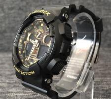 Casio G Shock GA-100CF-1A9ER Oro Negro Nuevo digital & análogo de camuflaje Xlarge