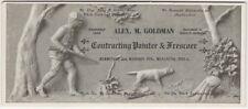 "1910s Philadelphia Pennsylvania ""Contracting Painter and Frescoer"" Blotter"