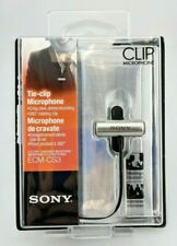 Sony Tie Clip Microphone ECM-CS3 Silver In Box Excellent Shape