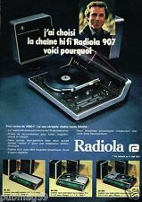 Publicité advertising 1975 La Chaine Hi Fi Radiola 907