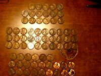 NICE ORIGINAL COMPLETE SET OF LINCOLN PENNIES 1934 - 1958 (PDS)  SEE PHOTOS