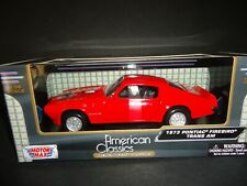 Motormax Pontiac Firebird Trans Am 1973 Red 1/24