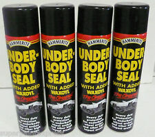 Hammerite Under Body Seal With Waxoyl 600ml Black Underseal Aerosol Vehicle x 4
