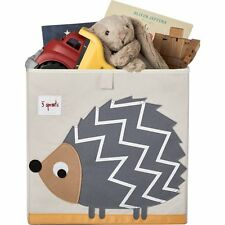 """3 Sprouts"" Storage Box- Grey Hedgehog 