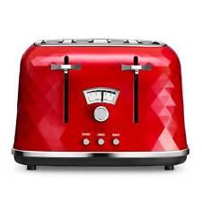 Delonghi CTJ4003.R Brillante 4 Slice Toaster in Red 4 Slices Defrost Function