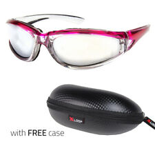 Wind Resistant Sunglasses Extreme Sports Motorcycle Riding Glasses X Purple Case