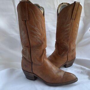 Vintage FRYE Women's 9.5 Western 3205 Cowboy Western Boots Stacked Heel