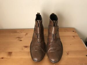 Josef Seibel Womens sz 40 US 9 brown leather ankle boots shoes