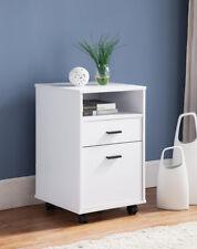 151180 Smart Home 2 Drawer Single Shelf File Cabinet (White)