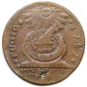 1787 19-SS R-5 Fugio Colonial Copper Coin