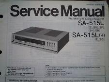 TECHNICS SA-515L Stereo amplifier receiver Service manual wiring parts diagram