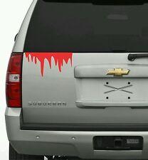 Blood dripping decal vinyl sticker zombie undead jdm graphic bleeding window