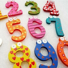 10 Number Baby Kids Wooden Alphabet Fridge Magnet Child Educational learn Toy