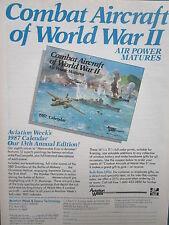 1/1987 PUB 1987 AVIATION WEEK CALENDAR PAUL LENGELLE WWII BATTLE MIDWAY AD