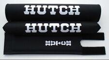 "ORIGINAL HUTCH BMX PAD SET BRAND NEW OEM REPRODUCTION BLACK FOR 1"" TOP TUBE"