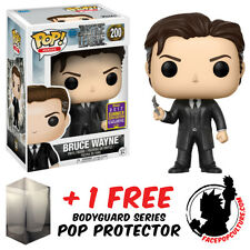 FUNKO POP DC JUSTICE LEAGUE BRUCE WAYNE SDCC 2017 EXCLUSIVE + FREE POP PROTECTOR
