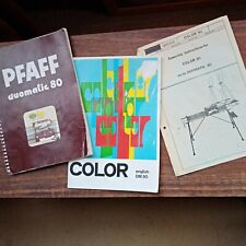 Pfaff Automatic 80 Color Guide, Instructions