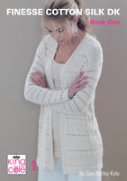 King Cole Finesse Cotton Silk DK Double Knitting Book 1 Womens Fashion Patterns